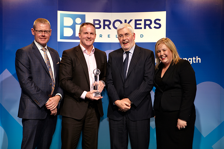 Barry receiving Brokers Ireland Educational Achievement award in recognition of attaining 1st in Ireland in the Masters level Graduate Diploma in Financial Planning. This is the professional academic and practical element of the international Certified Financial Planner designation (CFP) which he also received.